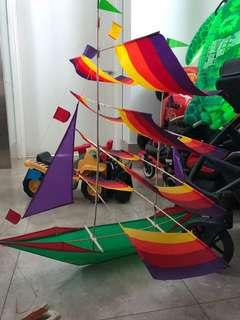 Sailboat kite-cloth