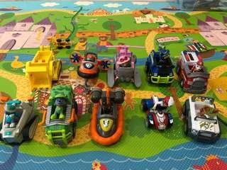 Paw patrol vehicles with dogs RM50 each