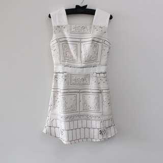 Fabitoria Embossed Stone Dress