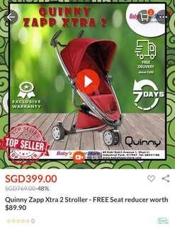 BNIB Quinny Stroller w/ extra seat and car seat