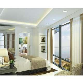 S Residences Offers A Family Suite A with Balcony (26.12sqm.) Luxury Condo in Mall of Asia Pasay City