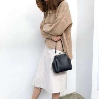 復古黑皮手袋 Black Vintage Shoulder Bag Handbag