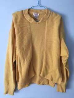 Soft yellow wool sweater