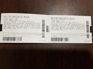 Selling 5 adults Maritime Experimental Museum tickets