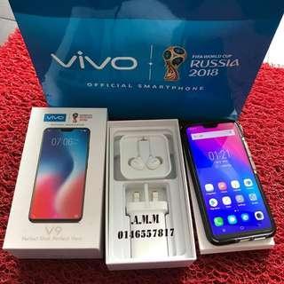 VIVO V9 BLACK FULLBOX 4GB 64GB