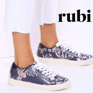✨BNIB BN RUBI ELOISE SNEAKERS, UK 5, SIZE 38, 245, NAVY FLORAL