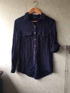 Navy button down dotti shirt