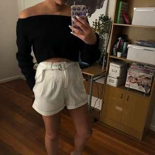 Princess Polly White Shorts
