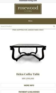 Rose wood coffe table