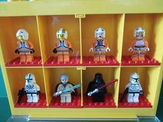 Lego Star Wars 樂高積木 星球大戰 黑武士等8個公仔連膠盒(膠盒非Lego盒)