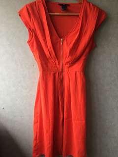 Orange H$M dress