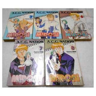 [MIDORI NO HIBI MANGA][READY STOCK] ALL 5 MANGA FOR RM30 - PRICE NOT INCLUDE POSTAGE YET.