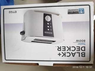 Alat Pemanggang Roti Black + Decker Toaster 800 Watt