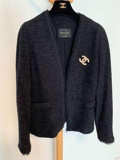 98% New Massimo Tweed Chanel Style Jacket