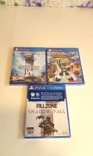 全新PS4 Games 300元全部