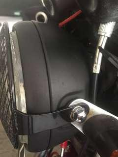 Almost new headlamp wire mesh guard for cb 400 or other