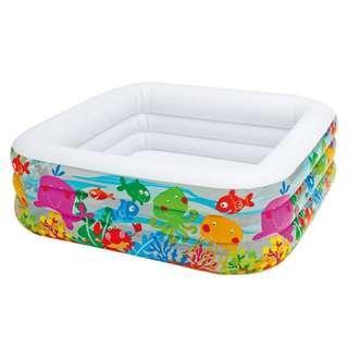 Intex large inflatable pool (158cm x 158 cm x 49cm)