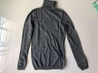 grey turtleneck winter top