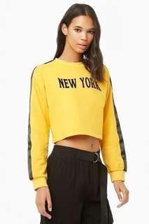 Promo A : Bnwt f21 new york crop sweater