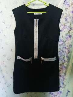 Black Zipper Dress