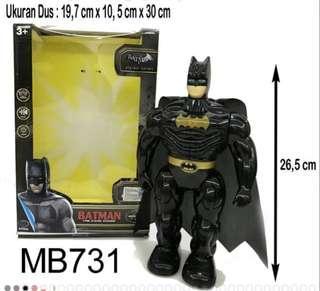 Mainan Robot Action Figures Batman Super Heroes Ada Suara Lampu Bisa Berjalan (689)