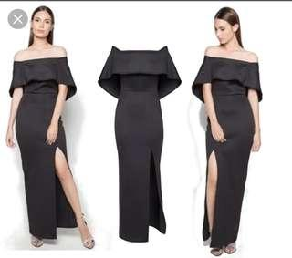 Black Apartment 8 Gown with slit for RENT