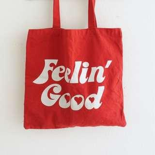 forever21 red tote bag