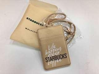 LIMITED EDITION Starbucks Card Holder with Lanyard