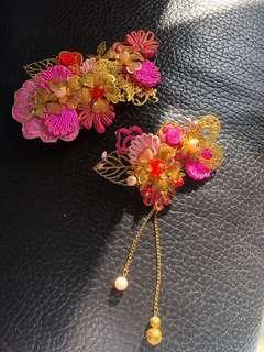 中式新娘頭飾