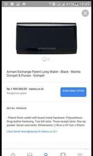 armany exchange long wallet