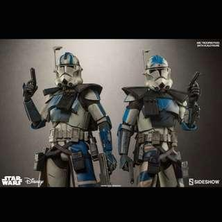 Sideshow Arc Echo and Arc Fives, Captain Rex Phase II Clone War Troopers