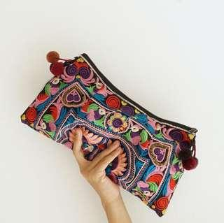 ethnic embroidery clutch