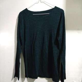 Dark green pullover shirt