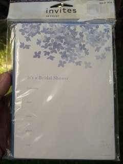Bridal shower invitation card 10 pcs