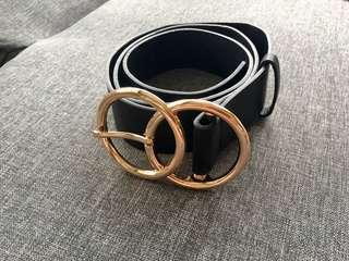 Gold Double Ring Belt
