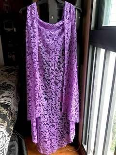 Net Cardigan- light purple
