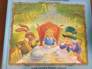 Alice in the wonderland pop up book