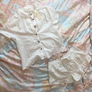 🚚 INSTOCK | BNWT cotton on woven shirt + shorts set