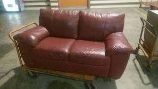 2 seater sofa and table