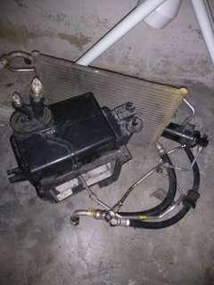 condenser aircond & cooling coil wira 1.3 / 1.5