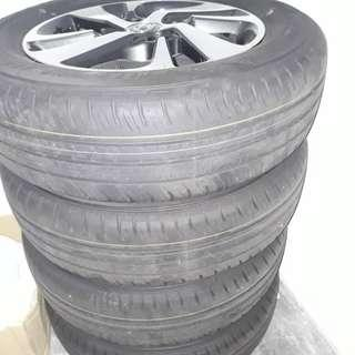 Toyota Original Tyre and Rim