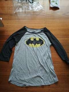 Batman shirt 3/4 sleeves