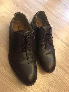 Aldo Dark Brown Leather Derby 43