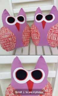Christmas gift sawing beautiful twins owl