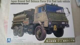 AOSHIMA Japan Ground Self Defence Force 3 1/2 t Fuel tank vehicle 1:72