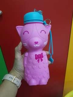 Smiggle cat silicone bottle