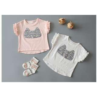 🚚 Floral Print Shirt with Special Design Sleeve for Baby Girl (NCS 011)