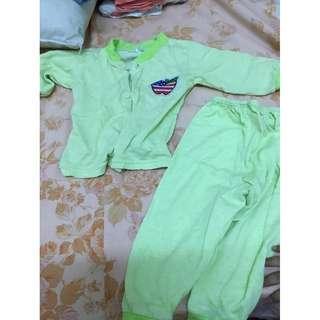 Lime green pyjamas