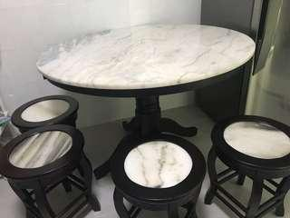 Marble Round Dinning Table