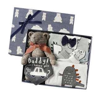 🚚 Grey Little Dinosaur & Bear Gift Set for Baby (NGS 002)